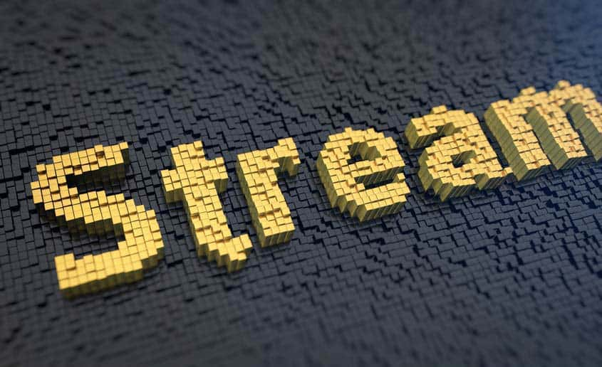 "The word ""stream"" written in small cubes"